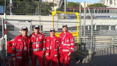 Photo of I volontari CRI della Valle Stura in azione al circuito di Monaco