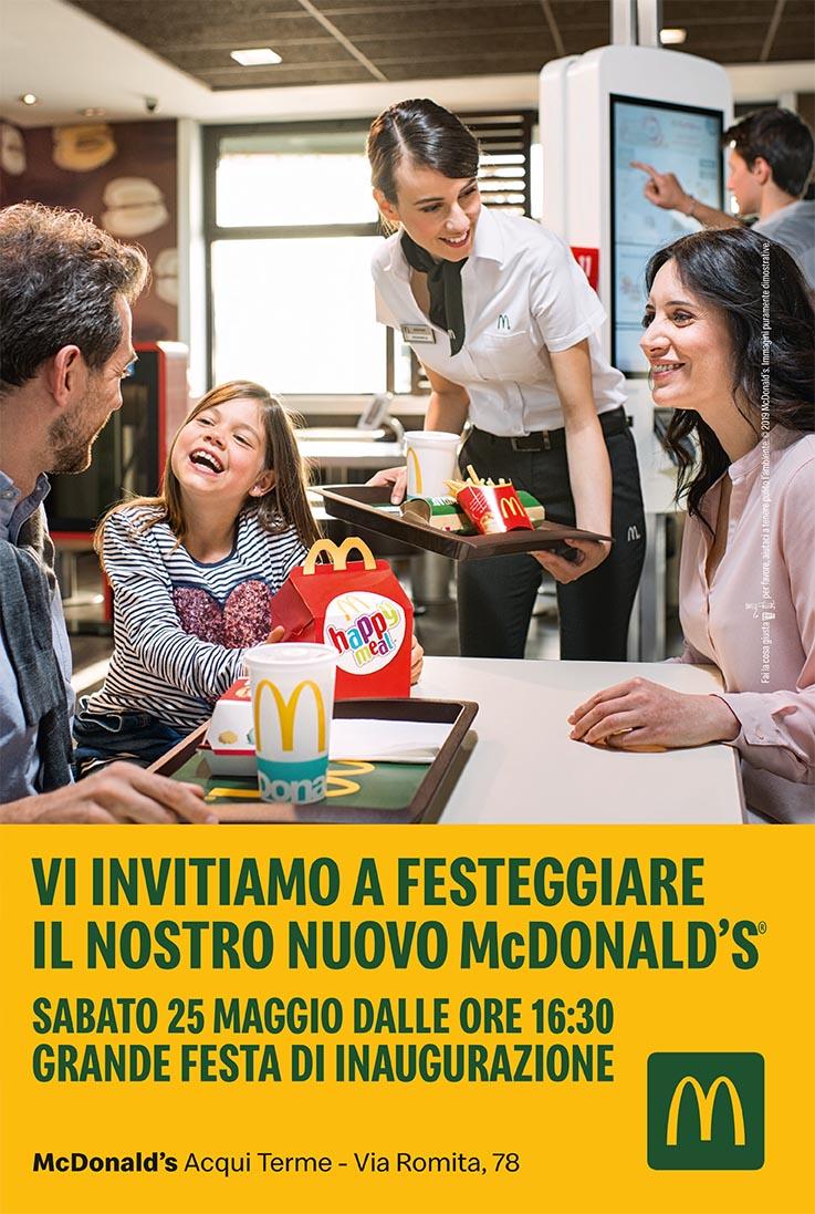 Festaggia il nuovo McDonald's Sabato 25 maggio dalle ore 16.30