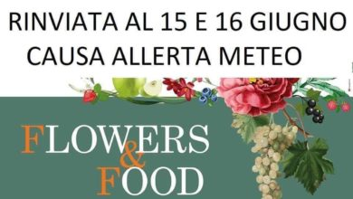 locandina rinvio flowers & food