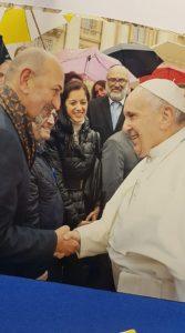 Brunetto Salvarani con Papa Francesco