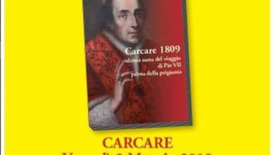 Lo scrittore carcarese Bagnus presenta il libro sull'ultima sosta di Pio VII a Carcare nel 1809
