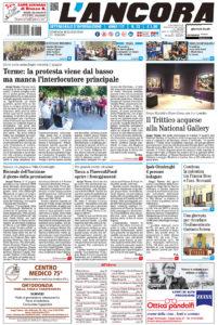 Prima pagina del N°23 del 16 giugno 2019