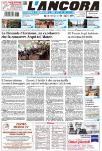 Prima pagina del N°24 del 23 giugno 2019