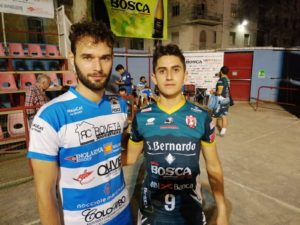 Pallapugno C1-Simone Adriano capitano del Bubbio e Luca Sanino capitano dell'Acqua S Bernardo Cuneo