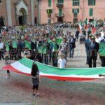 Vesime, 31ª Festa ANA Sezione di Asti una imponente sfilata con 70 gagliardetti e 14 vessilli