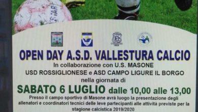 Calcio - L'Open Day del Vallestura Calcio si svolgerà il 6 luglio