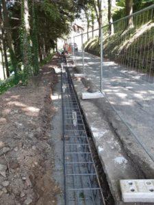 Masone: nuovo marciapiede in via Cascata del Serpente