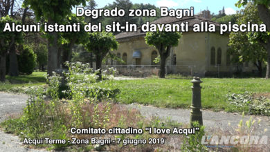 Photo of Acqui Terme – Degrado zona Bagni, alcuni istanti del sit-in davanti alla piscina (VIDEO)