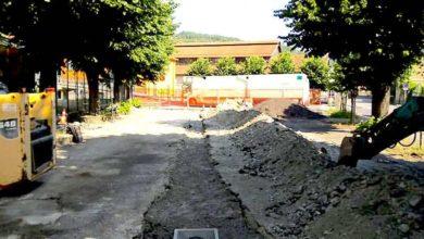 Rossiglione, prosegue il riordino e l'asfaltatura dell'area del mercato