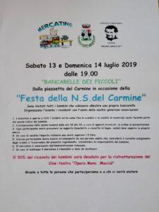 Masone, locandina festa Madonna del Carmine