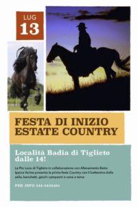 Tiglieto, locandina festa country