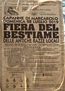 locandina fiera del bestiame Capanne di Marcarolo