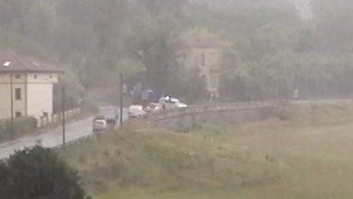 pioggia, strada per Melazzo