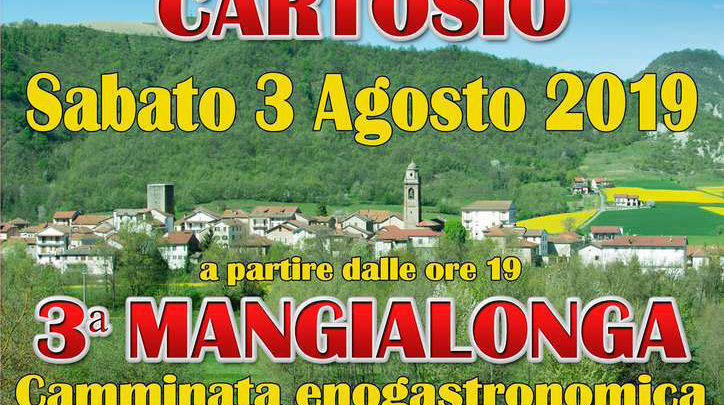 """Mangialonga"", a Cartosio il 3 agosto"