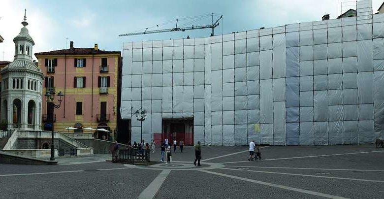 Lavori a palazzo Scati in piazza Bollente