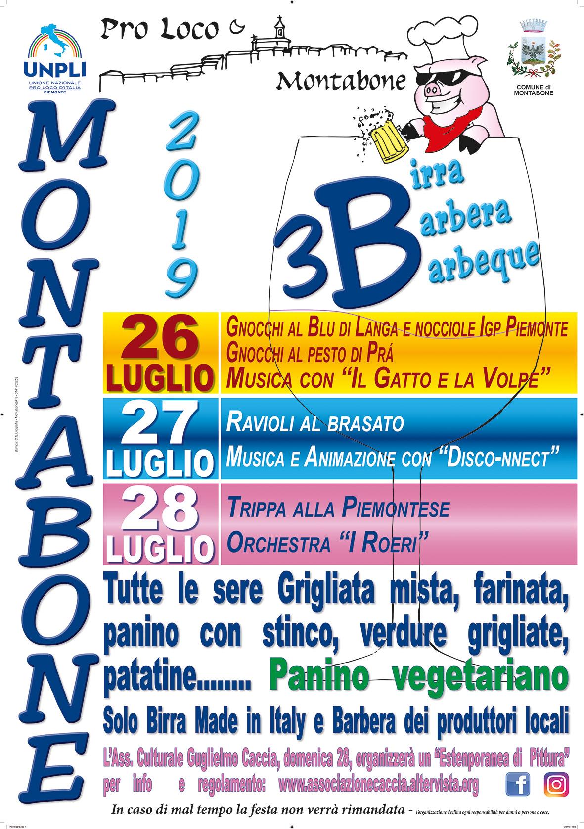 Festa delle 3B a Montabona (AT)