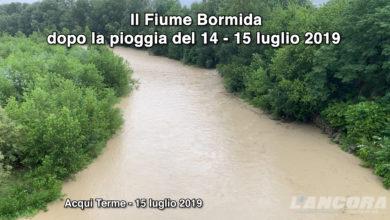 Photo of Il Fiume Bormida dopo la pioggia del 14 – 15 luglio 2019 (VIDEO)