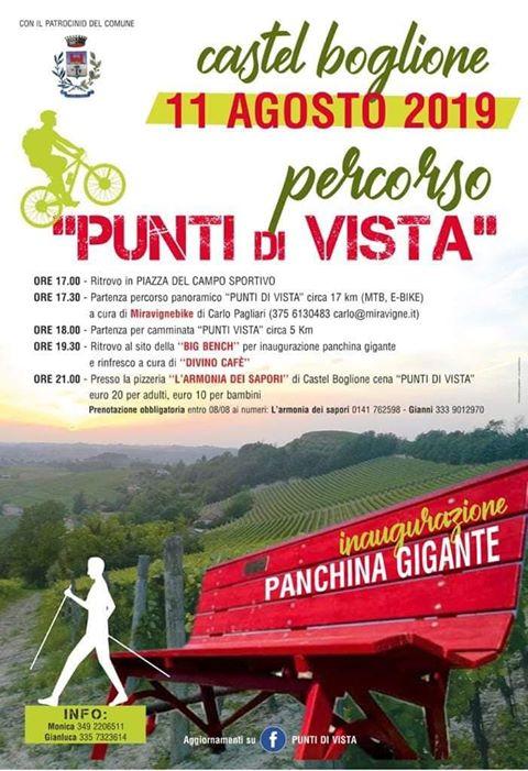 locandina Castel Boglione panchina gigante