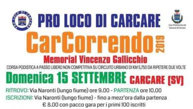 """Photo of Podismo – Domenica 15 la """"CarCorrendo"""""""