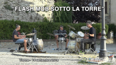 Photo of Visone – Flash mob sotto la torre – VIDEO