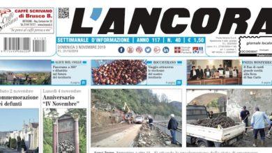 Photo of L'Ancora: sul numero 40 in edicola da giovedì 31 ottobre…