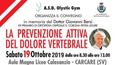 Photo of A Carcare il 19 ottobre, convegno medico scientifico in memoria del dott. Giovanni Bersi
