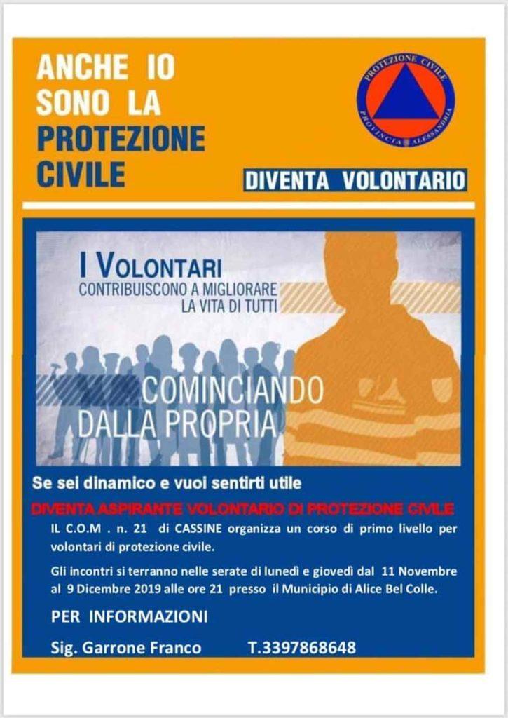 Al Com 21 corso per volontari di Protezione Civile