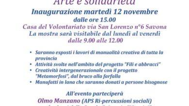 """Photo of A Savona, mostra """"Arte e solidarietà"""""""