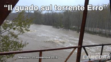 Photo of Melazzo, 23 novembre 2019 – Il guado sul torrente Erro durante la piena