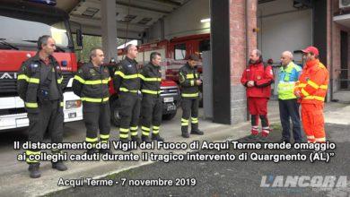 Photo of Acqui Terme – Omaggio  ai colleghi caduti durante il tragico intervento di Quargnento (AL)