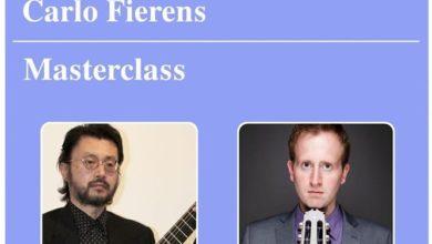 Photo of Masterclass con il maestro Katsumi del chitarrista cairese Carlo Fierens