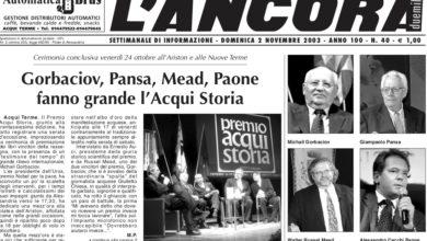 Photo of Giampaolo Pansa onorò il Premio Acqui Storia nel 2003