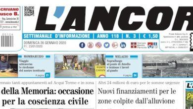 Photo of L'Ancora: sul numero 3 in edicola da giovedì 23 gennaio…