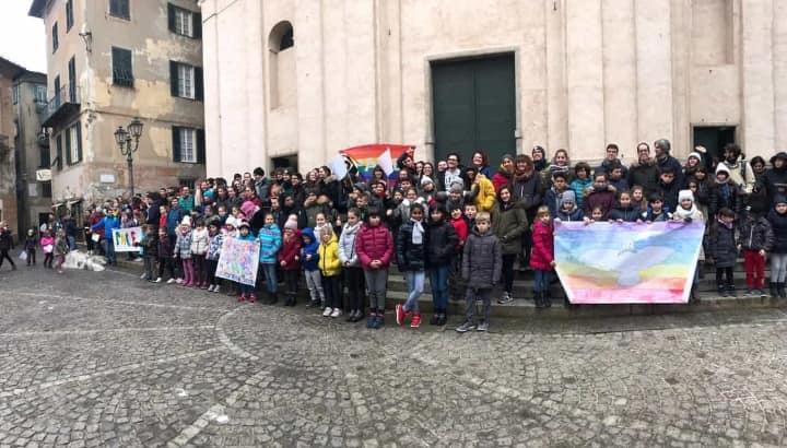 Festa della Pace foto di gruppo