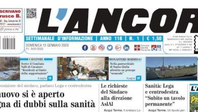 Photo of L'Ancora: sul numero 1 in edicola da giovedì 9 gennaio 2020