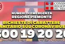 Photo of Numero verde coronavirus Piemonte 800 19 2020