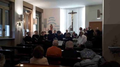 Photo of Il Gruppo Vocale Tiglietese si esibisce per i malati alla Cappella dell'Ospedale
