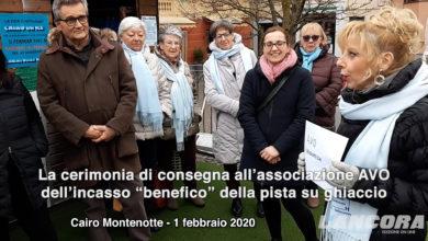"""Photo of Cerimonia di consegna all'associazione AVO dell'incasso """"benefico"""" della pista su ghiaccio"""