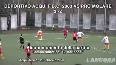 Photo of Calcio – Deportivo Acqui vs Pro Molare 3 – 2 (VIDEO)