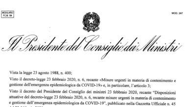 Photo of Coronavirus: il nuovo decreto del Governo