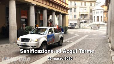 Photo of Acqui Terme – Iniziate le operazioni di sanificazione (VIDEO)