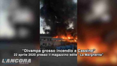Photo of Cassine: incendio domato e area bonificata (video)