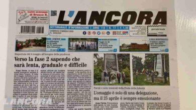 Photo of Settimanale L'Ancora – In edicola il n°17 del 3 maggio 2020 (video)