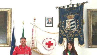 Photo of Rossiglione: Bandiera CRI esposta al Palazzo Comunale