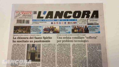 Photo of Settimanale L'Ancora – In edicola il n°20 del 24 maggio 2020 (video)