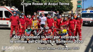 Photo of Acqui Terme – 685 km in bici per ricordare le vittime del Covid-19 e Solferino 2020 (VIDEO)