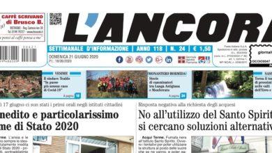 Photo of L'Ancora: sul numero 24 in edicola da giovedì 18 giugno…