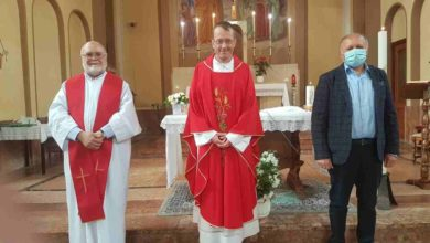 Photo of Cossano Belbo ha salutato il vice parroco don Luca Bravo