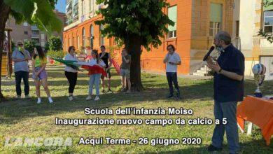 Photo of Acqui Terme – Scuola dell'infanzia Moiso, inaugurazione campo da calcio a 5 (video)