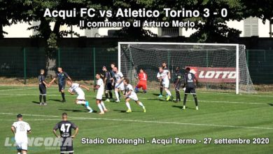 Photo of Calcio – Acqui FC – Atletico Torino (3-0): le parole di Arturo Merlo (Video)